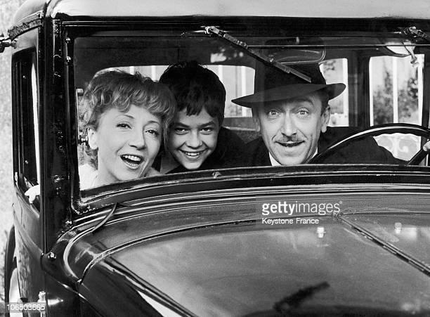 Robert Dhery, Colette Brosset And Didier Haudepin In La Communale Movie, In 1965