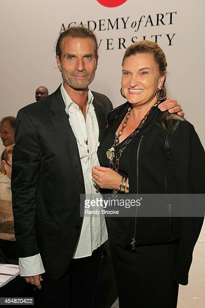 Robert Di Mauro and Melanie Seymour Holland attend the Academy Of Art University Spring 2015 Collections during MercedesBenz Fashion Week Spring 2015...