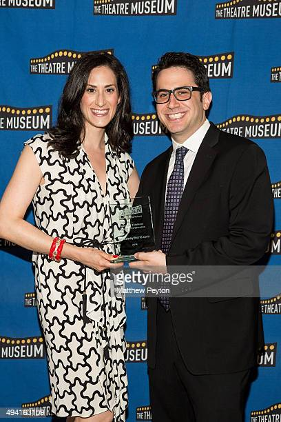 Robert Diamond and wife arrive at the 2014 Theatre Museum Awards at The Players Club on May 27 2014 in New York City