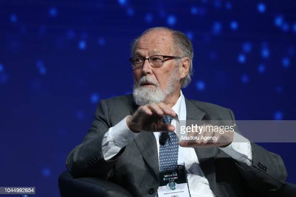 Robert Dickson Crane, former U.S. Presidential advisor, who served as foreign policy adviser to late U.S. President Richard Nixon, speaks during a...