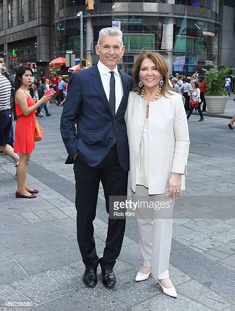 Robert D'Loren and Judith Ripka attend Xcel Brands Inc rings The NASDAQ Closing Bell at NASDAQ MarketSite on September 2 2015 in New York City