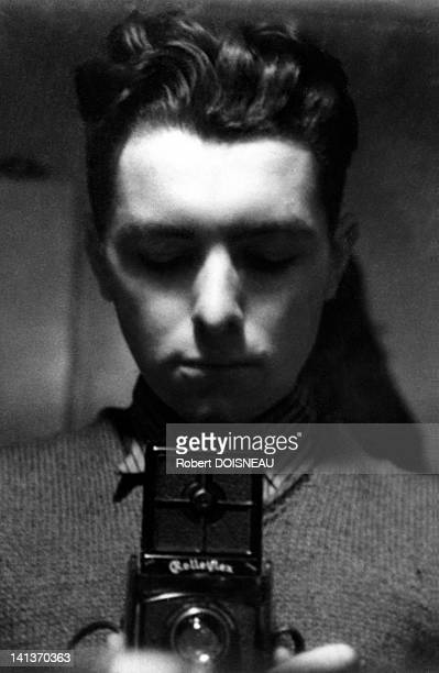Robert Doisneau's selfportrait with a Rolleiflex France in 1932
