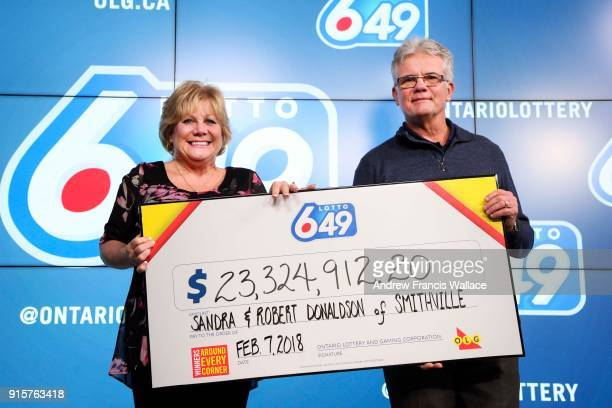 Robert Donaldson and his wife Sandra who are from Smithville Ont and have been married for 36 years plan to share the money with family buy a car...