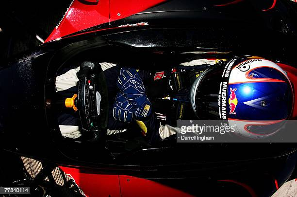 Robert Doornbos driver of the Team Minardi USA Panoz DP01 during practice for the ChampCar World Series Grand Premio Tecate on November 10 2007 at...