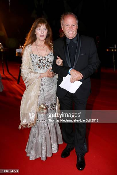 Robert Dornhelm and guest attend the LIFE Solidarity Gala prior to the Life Ball at City Hall on June 2 2018 in Vienna Austria The Life Ball an...