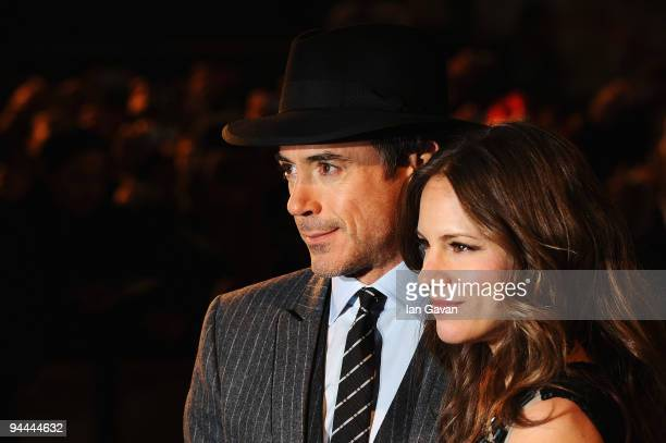 Robert Downey Jnr and wife Susan attend the World Premiere of Sherlock Holmes at Empire Leicester Square on December 14 2009 in London England