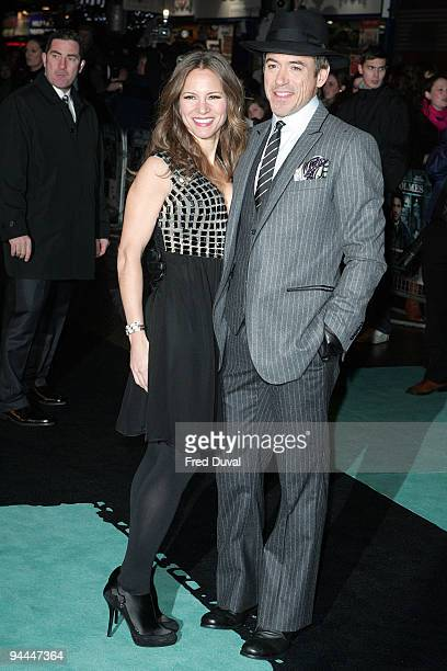 Robert Downey Jnr and wife Susan Levin attends the World Premiere of Sherlock Holmes at Empire Leicester Square on December 14 2009 in London England
