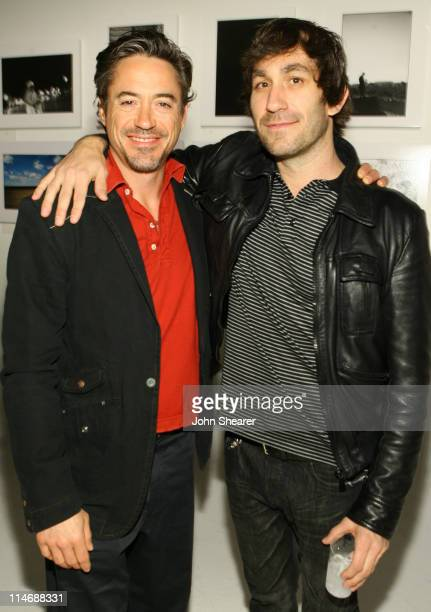 Robert Downey Jr and Brent Bolthouse during Brian Bowen Smith Brent Bolthouse and Brandon Boyd Art and Photography Show at Quixote Studios at Quixote...