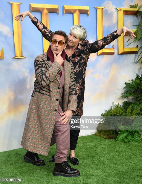 Robert Downey Jr and Dame Emma Thompson attend the Dolittle special screening at Cineworld Leicester Square on January 25 2020 in London England
