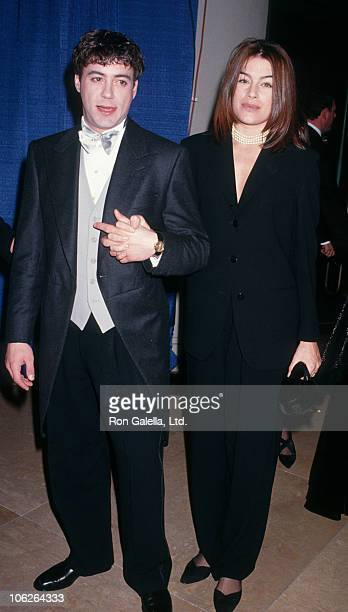 Robert Downey Jr and Deborah Falconer during 50th Annual Golden Globe Awards Dress Rehearsals at Beverly Hilton Hotel in Beverly Hills California...