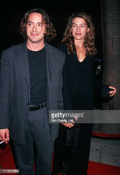 Robert Downey Jr and Deborah Falconer during Benefit Premiere of Only You at Academy Theatre in Beverly Hills California United States
