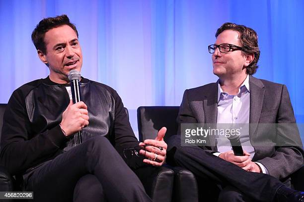 Robert Downey Jr and director David Dobkin attends a QA at the official Academy Members Screening of The Judge hosted by The Academy Of Motion...