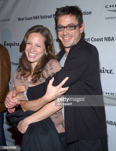Robert Downey Jr. And fiance Susan Levin during Esquire House Hosts Penny Marshall's Birthday Party to Benefit The Life On Purpose Foundation and The...