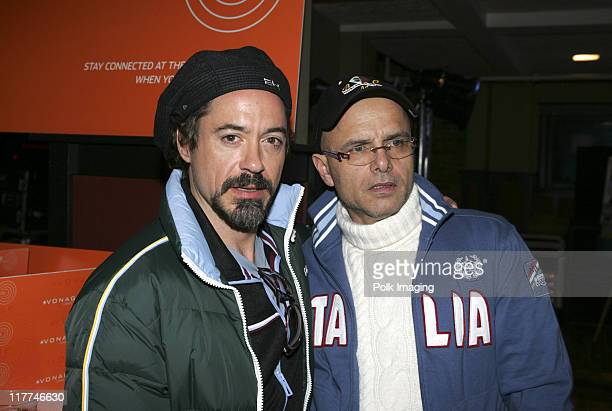 Robert Downey Jr and Joe Pantoliano at the Premiere Film and Music Lounge