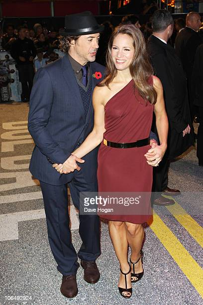 Robert Downey Jr and Susan Downey attend the European premiere of Due Date held at The Empire Leicester Square on November 3 2010 in London England