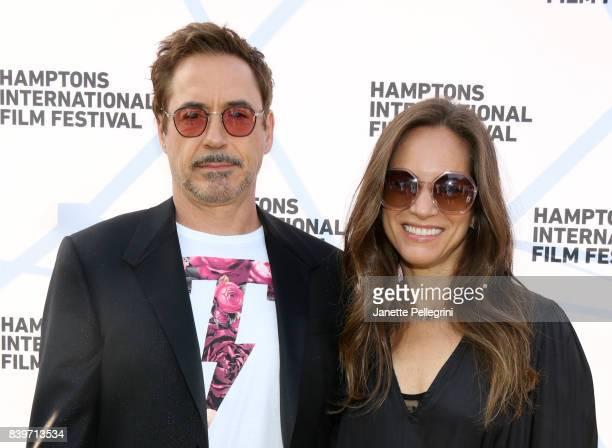 Robert Downey Jr and Susan Downey attend the Hamptons International Film Festival SummerDocs Series Screening of ICARUS on August 26 2017 in East...
