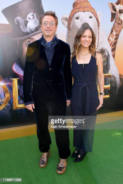 Robert Downey Jr and Susan Downey attend the Premiere of Universal Pictures' Dolittle at Regency Village Theatre on January 11 2020 in Westwood...