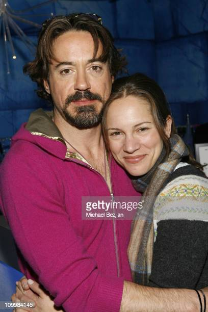 Robert Downey Jr and Susan Downey during 2006 Park City - Frigidaire Glacier Lounge at Village at the Lift - Day 2 at Village at the Lift in Park...