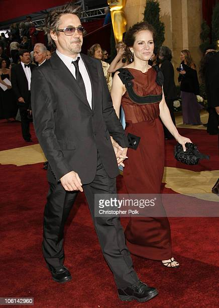 Robert Downey Jr and Susan Downey during The 79th Annual Academy Awards Red Carpet at Kodak Theatre in Hollywood California United States