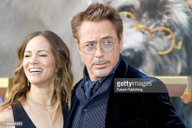 Robert Downey Jr and Susan Downey photographed at the Premiere 'Dolittle' at Regency Village Theatre on January 11 2020 in Westwood California...