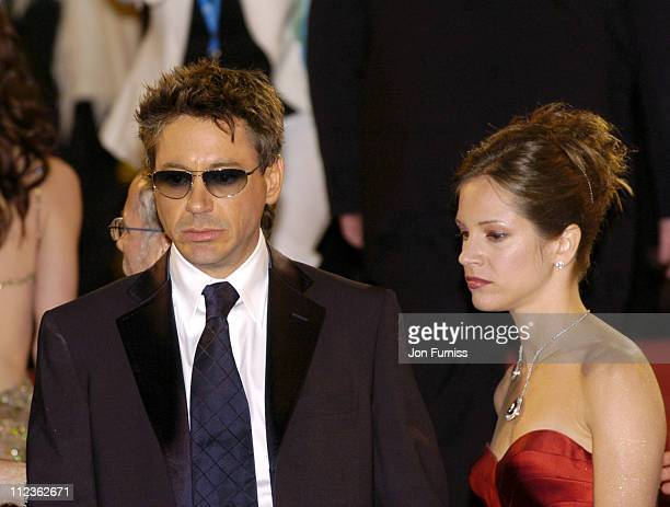 """Robert Downey Jr. And Susan Levin during 2005 Cannes Film Festival - """"Kiss, Kiss, Bang, Bang"""" Premiere in Cannes, France."""