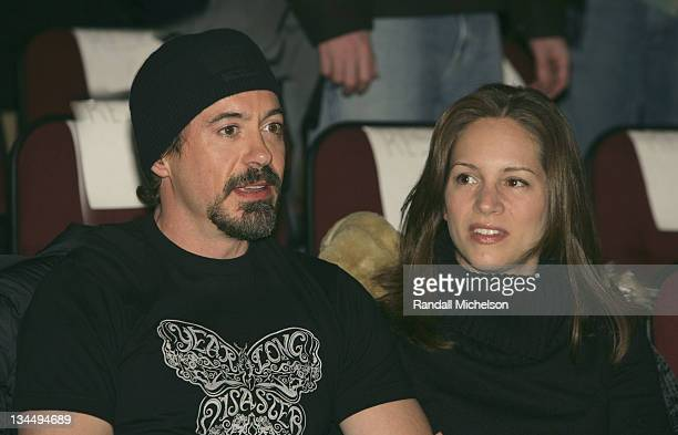 Robert Downey Jr and Susan Levin during 2006 Sundance Film Festival 'Friends with Money' Opening Night Premiere Inside at Eccles Theatre in Park City...