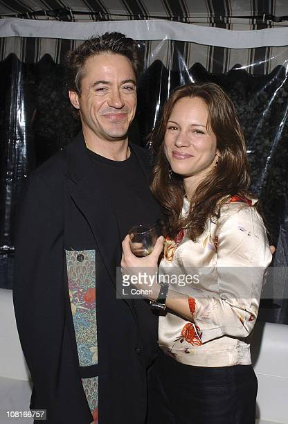 Robert Downey Jr and Susan Levin during Glamour Magazine Celebrates Power Women in Hollywood at Chateau Marmont in West Hollywood California United...