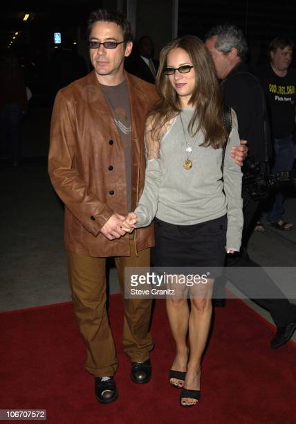 """Robert Downey Jr. And Susan Levin during Hollywood Film Festival - Centerpiece Gala Film Premiere - """"The Singing Detective"""" at The Arclight in..."""