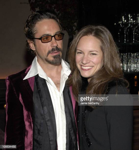 Robert Downey Jr and Susan Levin during Stefano Gabbana's Birthday Celebration November 11 2005 at Bette in New York City New York United States