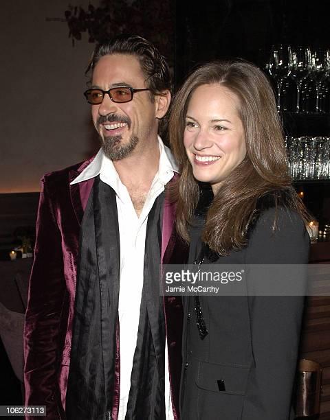 Robert Downey Jr. And Susan Levin during Stefano Gabbana's Birthday Celebration - November 11, 2005 at Bette in New York City, New York, United...