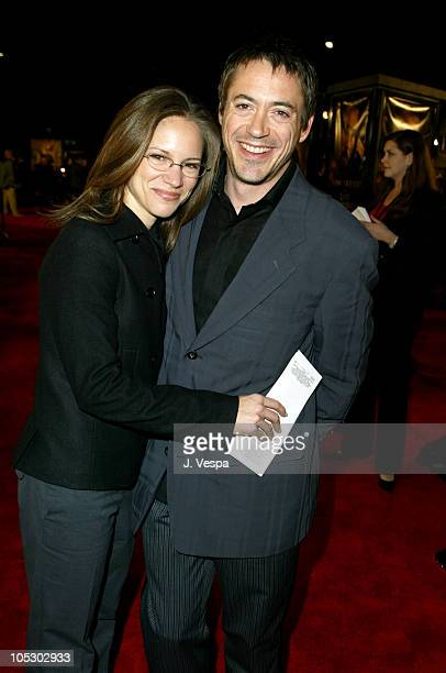 """Robert Downey Jr. And Susan Levin during """"The Last Samurai"""" Los Angeles Premiere - Red Carpet at Mann National in Westwood, California, United States."""