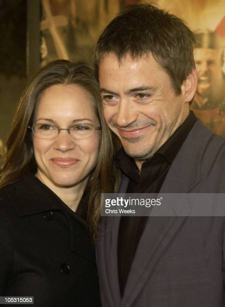 """Robert Downey Jr. And Susan Levin during """"The Last Samurai"""" - Los Angeles Premiere at Mann's Village Theater in Westwood, California, United States."""