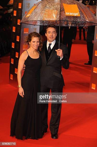 Robert Downey Jr and wife attend the Orange British Academy Film Awards at Royal Opera House in London