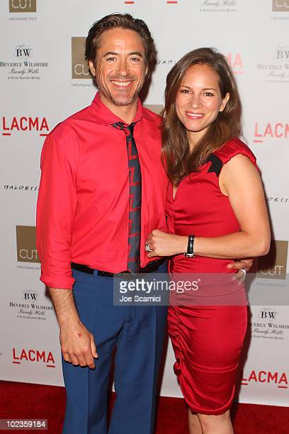 Robert Downey Jr and wife Susan arrive to the Debut of John Baldessari's New Art Exhibit At CUT on June 23, 2010 in Los Angeles, California.