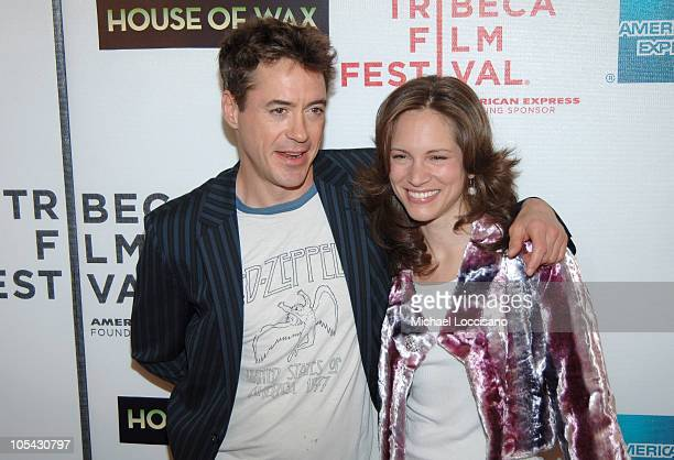 """Robert Downey Jr. And wife Susan Levin, producer during 4th Annual Tribeca Film Festival - """"House of Wax"""" New York City Premiere at Stuyvesant High..."""