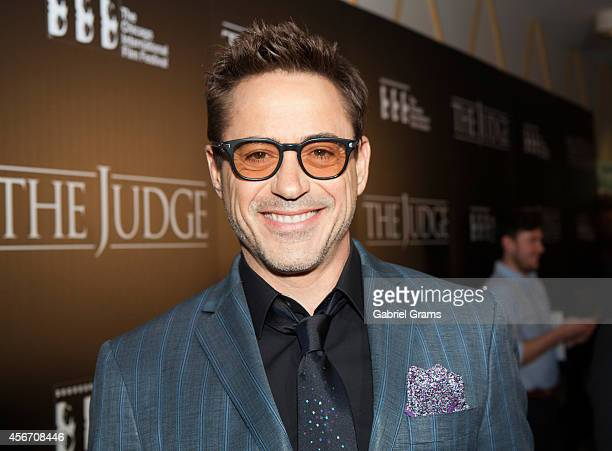 Robert Downey Jr arrives at the 50th Chicago International Film Festivals PreFestival Gala Screening of 'The Judge' at AMC River East Theater on...