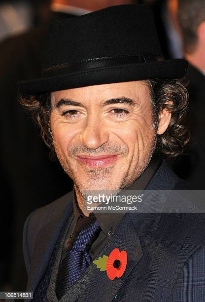 Robert Downey Jr arrives at the European premiere of 'Due Date' at Empire Leicester Square on November 3 2010 in London England