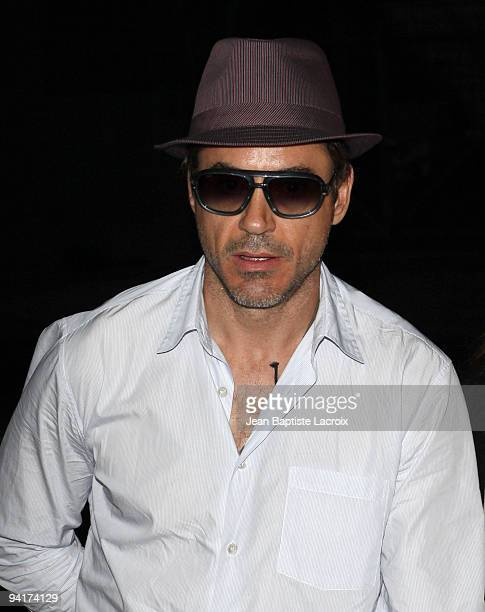 Robert Downey Jr. Arrives at the memorial service for 'DJ AM' Adam Goldstein at The Hollywood Palladium on September 3, 2009 in Los Angeles,...