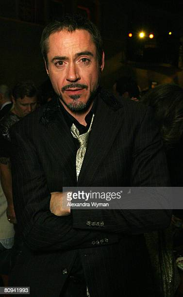 Robert Downey Jr at The Los Angeles Premiere of Iron Man held at The Chinese Theater on April 30, 2008 in Hollywood, California.