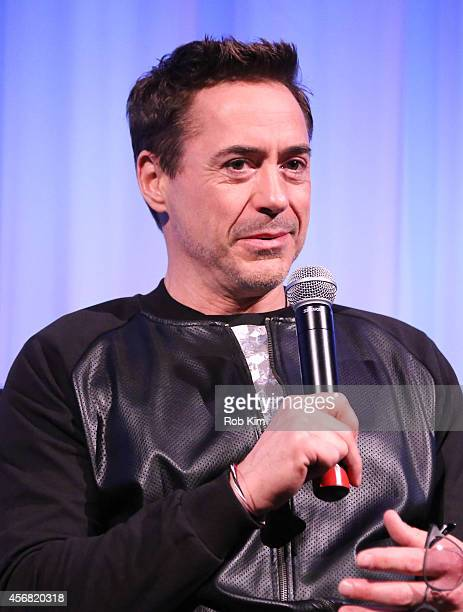 Robert Downey Jr attends a QA at the official Academy Members Screening of The Judge hosted by The Academy Of Motion Picture Arts And Sciences at the...