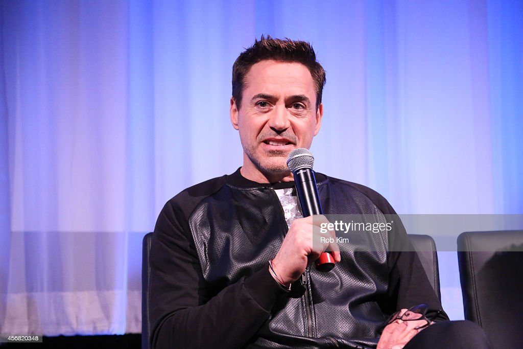 Robert Downey Jr. attends a Q&A at the official Academy Members Screening of 'The Judge' hosted by The Academy Of Motion Picture Arts And Sciences at the Academy Theater at Lighthouse International on October 7, 2014 in New York City.