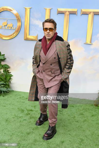 """Robert Downey Jr. Attends a special screening of """"Dolittle"""" at Cineworld Leicester Square on January 25, 2020 in London, England."""