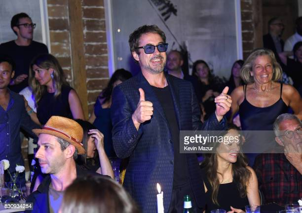 Robert Downey Jr attends Apollo in the Hamptons 2017 hosted by Ronald O Perelman at The Creeks on August 12 2017 in East Hampton New York