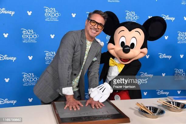 Robert Downey Jr. Attends D23 Disney Legends event at Anaheim Convention Center on August 23, 2019 in Anaheim, California.