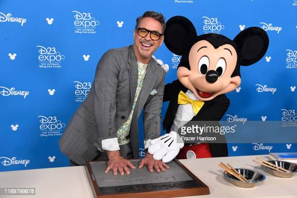 Robert Downey Jr. Attends D23 Disney Legends event at Anaheim Convention Center on August 23, 2019 in Anaheim, California.
