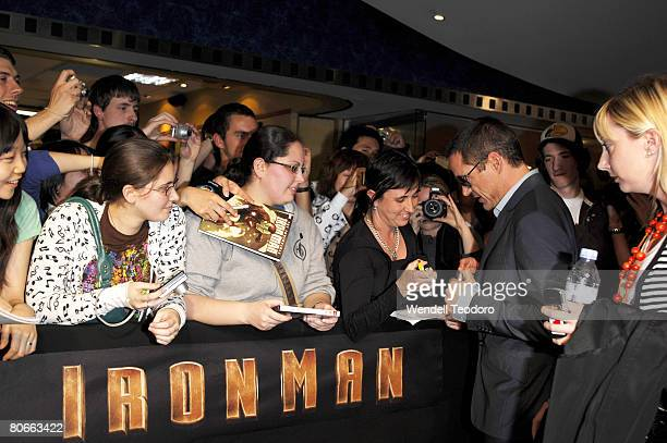 Robert Downey Jr attends the Australian premiere of `Iron Man' at the George Street Greater Union Cinemas on April 14, 2008 in Sydney, Australia.