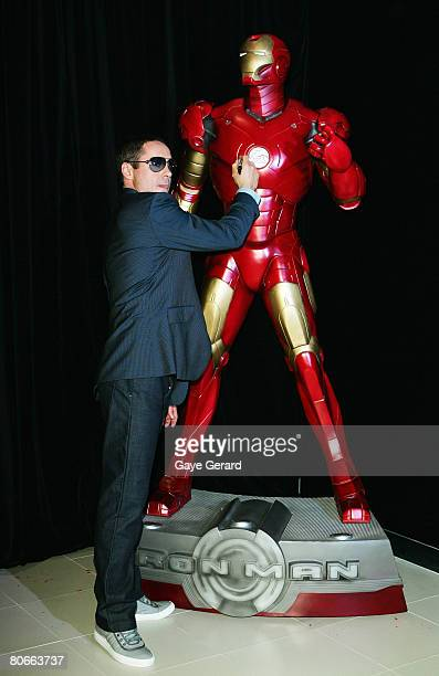 Robert Downey Jr attends the Australian premiere of Iron Man at the George Street Greater Union Cinemas on April 14 2008 in Sydney Australia