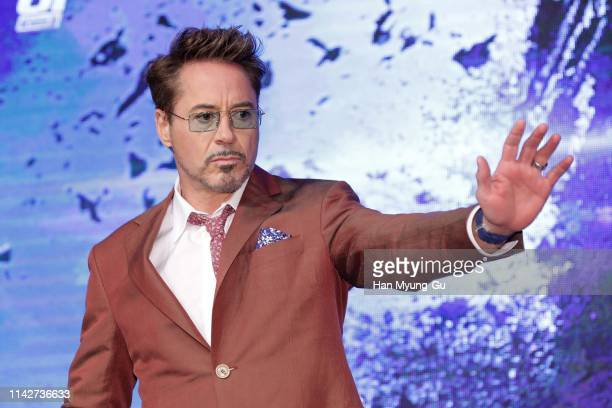 Robert Downey Jr. Attends the 'Avengers: Endgame' Asia Press Conference on April 15, 2019 in Seoul, South Korea. The film will open on April 24, in...