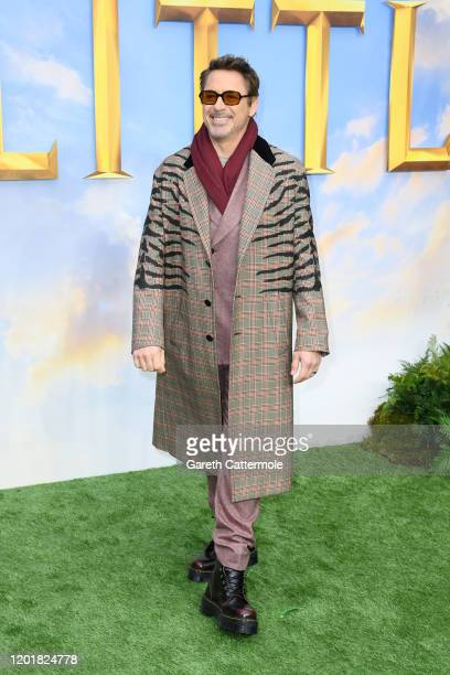 "Robert Downey Jr attends the ""Dolittle"" special screening at Cineworld Leicester Square on January 25, 2020 in London, England."