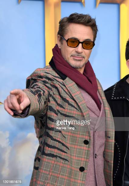 Robert Downey Jr attends the Dolittle special screening at Cineworld Leicester Square on January 25 2020 in London England